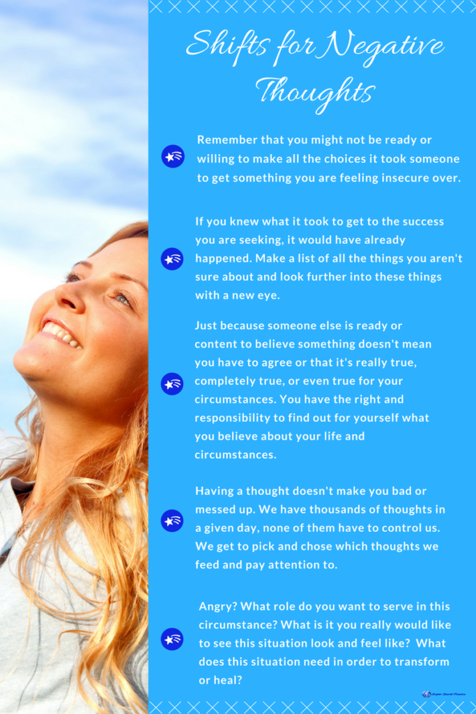 Shifting negative thoughts infographic