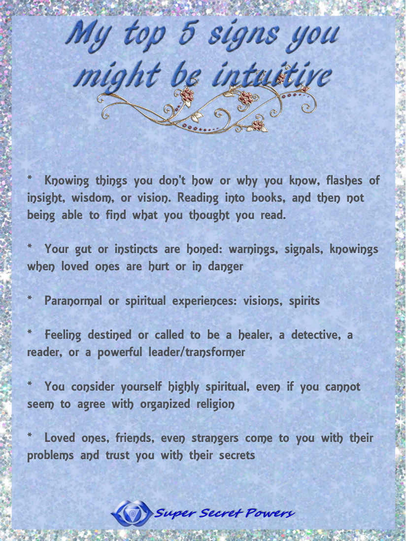 signs you might be intuitive