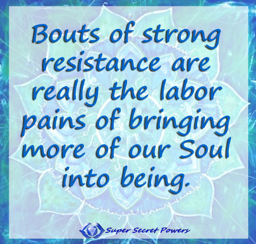 resistance as labor pains