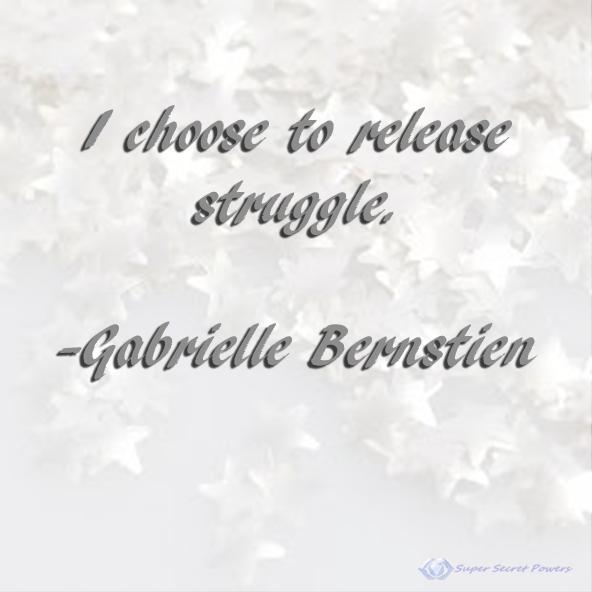 I choose to release struggle