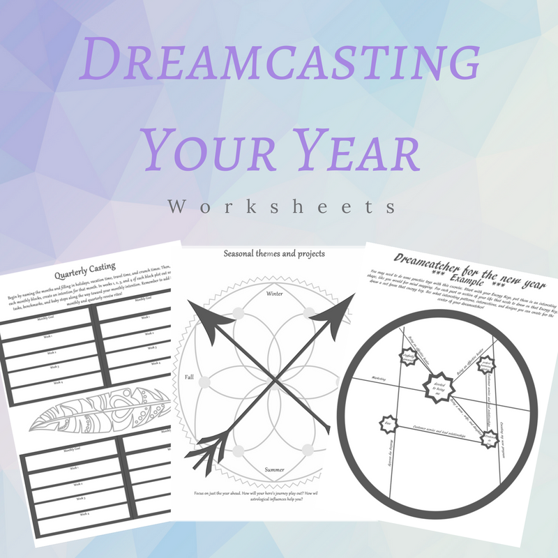 Dreamcasting Your Year worksheets