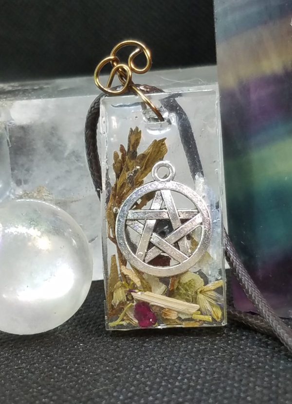 Herb and Gemstone Protection Pendant